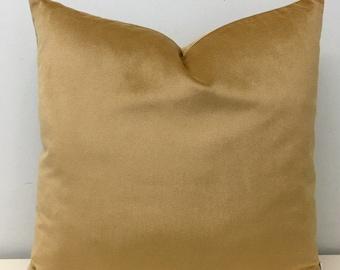 Caramel Velvet Pillows, Caramel Velvet Pillow Cover, Velvet Pillows, Luxury Decorative Throw Pillow, Cushion Caramel Velvet Pillow Covers