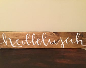 Hallelujah Wooden Sign