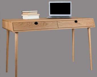Table Walnut/oak (desk, toilet) solid 2CIN Mind Century