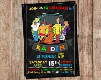 Scooby Doo Invitation - Scooby Doo Invite - Scooby Doo Birthday - Scooby Doo Party - Scooby Doo Printables - Scooby Doo Cards - Scooby Doo