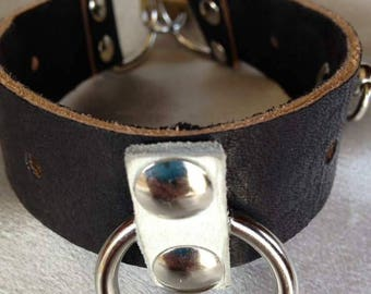 BDSM leather ankle cuffs