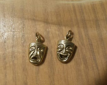 Comedy and Tragedy 2 Faced Charms