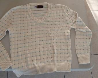 Vintage jersild sweater checkered XL