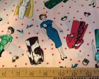 Glamour girls cotton fabric by the yard