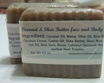 Coconut & Shea Butter Face And Body Soap