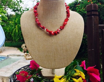 Short Red beads Necklace