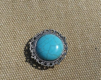 Turquoise Resin Cameo Magnet