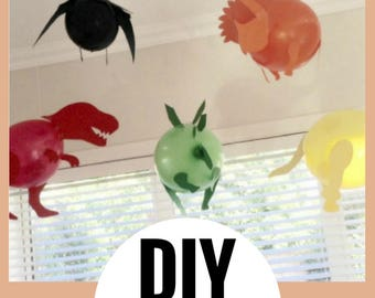 DIY DINOSAUR BALLOONS,  Dinosaur Party, Dinosaur Theme, Dino baloons, Dinosaur Supplies, Balloons, Dinosaur Decorations, Party Supplies,kids