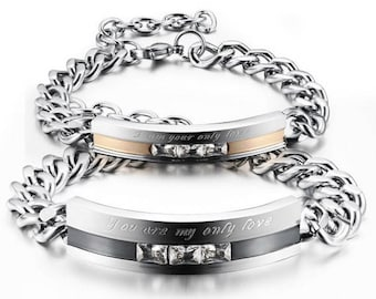 Couples Bracelet Matching His and Hers Anniversary Gift