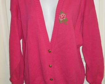 Oscar de la Renta Pink Vintage Cardigan