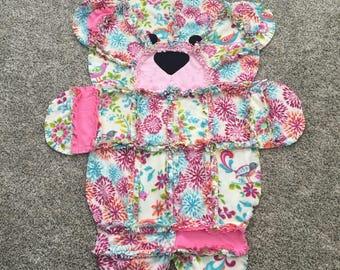 Springtime Teddy Bear Blanket