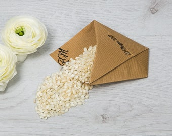 "Sachet decorated with origami-Line ""White Lace"""