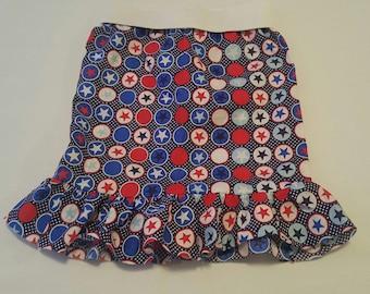 4th of July Girls skirt 1T -4T