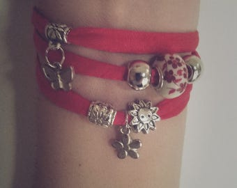Modern and unique red bracelet