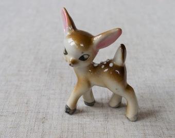 Ceramic fawn figurine. Ceramic fawn decor. Ceramic fawn. Ceramic miniature fawn decor. Fawn lover gift. Sweet fawn gift.