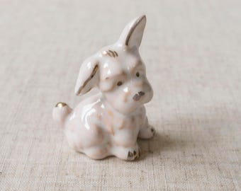 Ceramic dog. Ceramic dog figurine. Ceramic dog decor. Ceramic miniature dog decor. Dog lover gift. Dog gift.