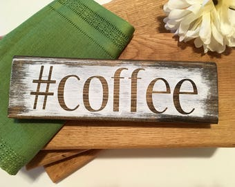 Wooden #coffee Sign, Farmhouse Kitchen Sign