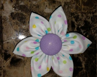 Pastel Dots with Purple Center