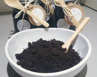 Coffee Scrub. Vegan, organic, natural ingredients.