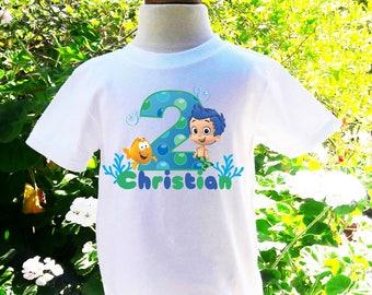 Bubble Guppies Birthday Shirt Bubble Guppies Personalized Birthday Shirt Custom Birthday Shirt Bubble Guppies Name Custom Shirt