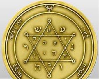 king solomon seal coin talisman + 72 names of god kabbalah
