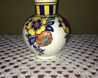 BOCH LA LOUVIERE - Charles Catteau - Belgium - d1049 - signed Art Deco Vase - Retro -