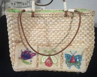 Weaved butterfly handbag / purse
