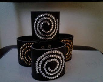 arm bands faux leather