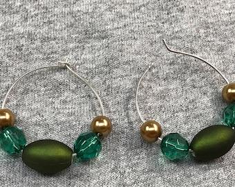 Luck of the Irish hoop earrings