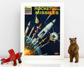 Rockets & Missiles Science Cover Book Print - 1962