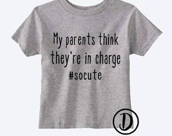 My parents are cute t-shirt | kids t-shirt | toddler t-shirt | funny kids shirt | funny toddler shirt|