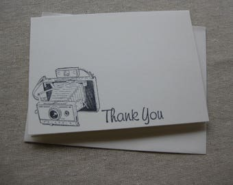 6 Handmade Vintage Camera blank notecard set