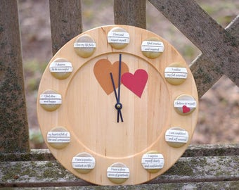 Affirmation  Clock - The Way to a More Fulfilling Life