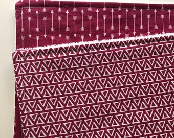 Maroon Burp Rags, Set of 2