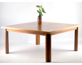 Vintage Danish coffee table, walnut veneer, produced by Central Møbler, Denmark