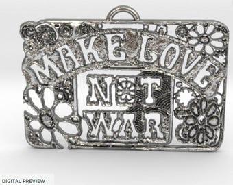 Make Love ,Not War Pendant