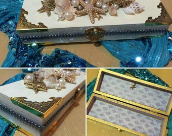 Seashell treasure trinket box