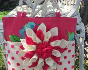Custom tote, gifts for her, garden party