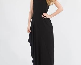 Black Tunic, Black Maxi Dress, Black Dress, Black Apparel, Plus Size Dress, Women Black Dress, Long Black Dress, Maxi dress, Tunic dress