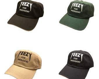 Yeezy For President 2020 Kanye West Yeezy Yeezus Strapback Cap Dad Hat