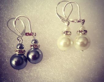 Two for One: (Set of Pearl earrings)