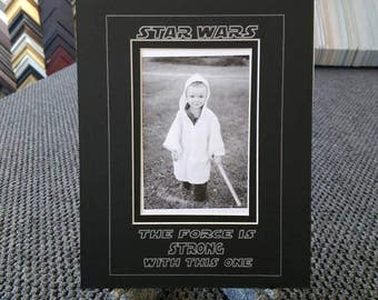 Star Wars Mat (The Force is Strong with this one) Fits a 4x6 photo