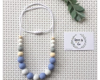Blue Serenity ~ silicone teething necklace