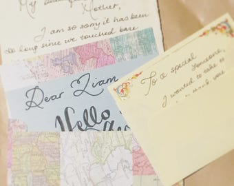 Custom Handwritten Letters