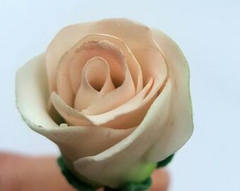 Gumpaste Pale Pink Rosebud