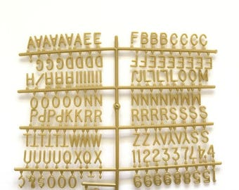 3/4 in Gold Letter Set
