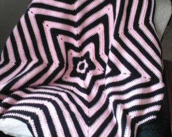 Star stripe afghan