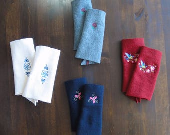 embroidered hand warmers for many occasions