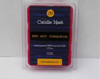 100% Natural Soy Wax, Red Hot Cinnamon Scented Melts
