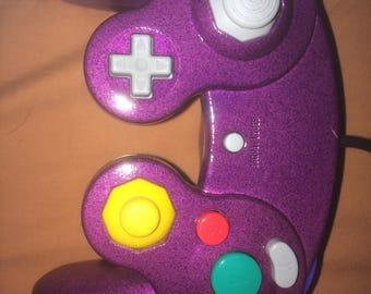 Used Dark purple & Violet Gamecube Controller